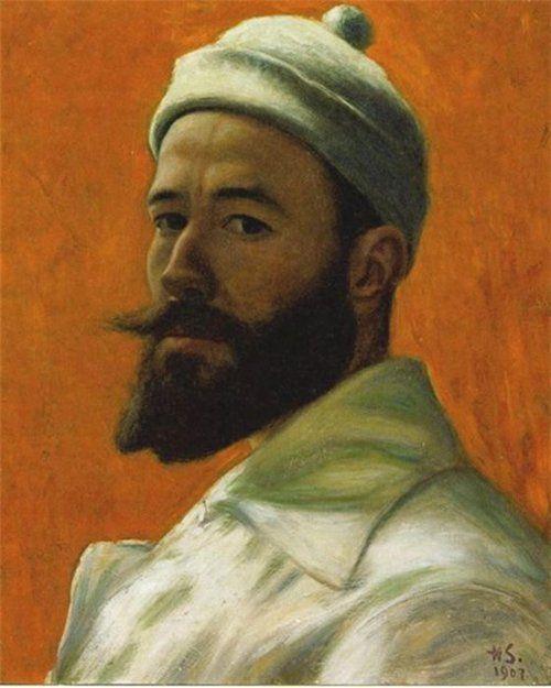 """Hugo Simberg 1907 """"Self Portrait"""""""