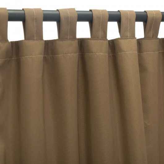Canvas Cocoa Sunbrella Outdoor Curtains Tab Top