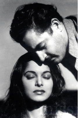 Waheeda Rehman and Guru Dutt