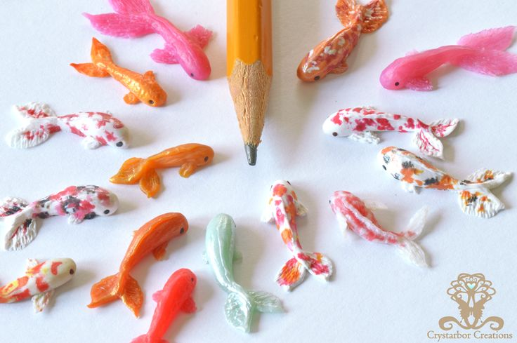 New tiny Polymer Clay Fish by Crystarbor.deviantart.com on @DeviantArt