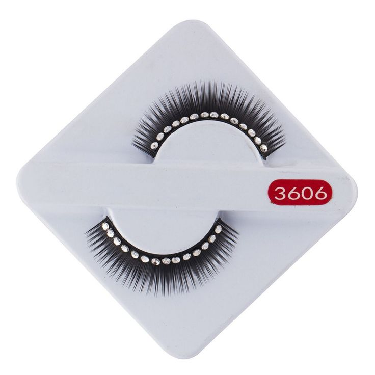 High Quality Regular Long Thick  Rhinestone Fake Eyelash False Eyelashes Free Shipping Wholesale No Glue Women Eye Makeup Party