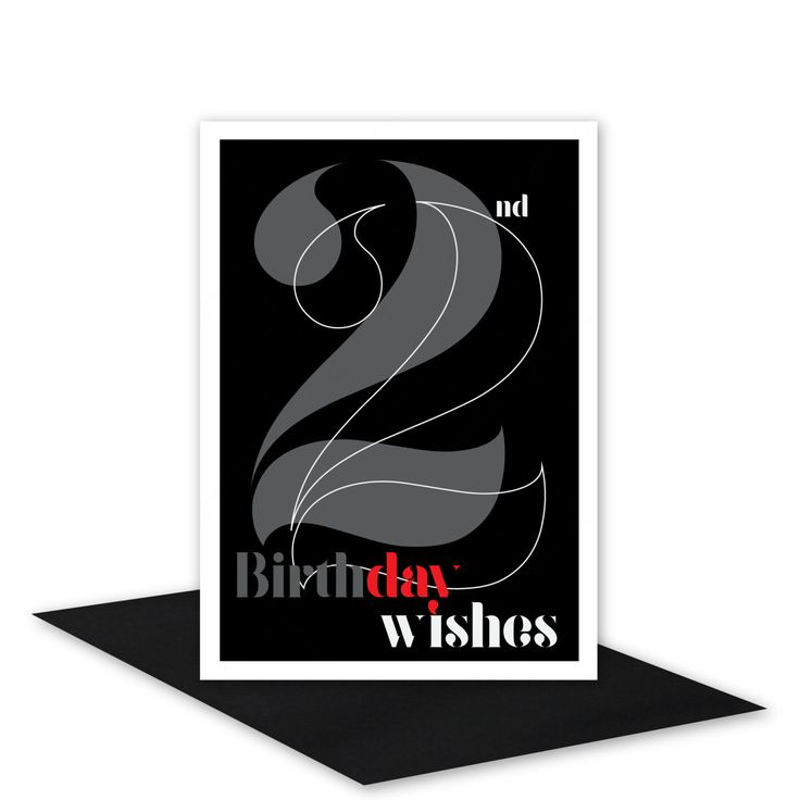 22nd Birthday Wishes card for boy or girl 22 Happy birthday card for man or woman black silver typography design inside message options (4.50 AUD) by stuARTconcepts