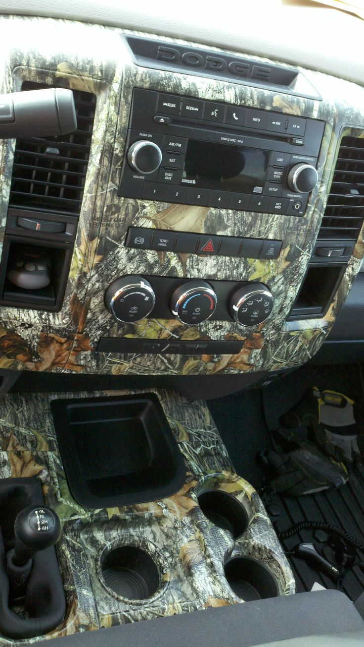 My favorite color is... Camo! I want my truck to have a dash like this!