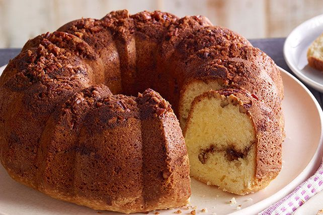 With its streusel topping made with sweet pecans, brown sugar and cinnamon, our sour cream coffee cake is sure to be your most-requested recipe!