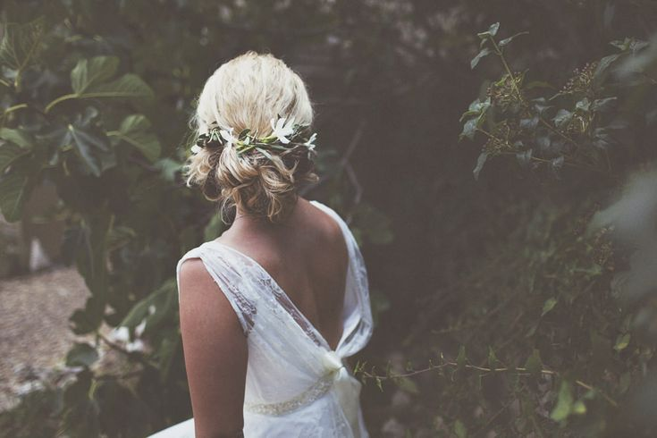 Chic Bridal Up Do | Chateau du Puits es Pratx | Destination French Wedding | Charlie Brear Wedding Dress | On Love and Photography | http://www.rockmywedding.co.uk/rebecca-sam/