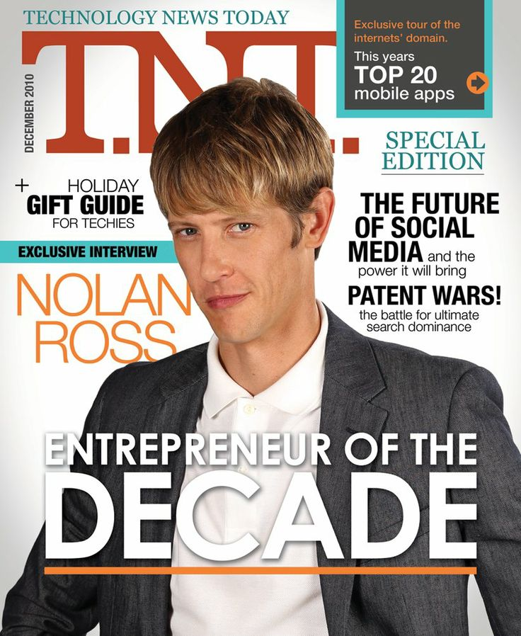 """Nolan Ross on the cover of """"Technology News Today"""". Come back every week for more items found in the storage locker of Nolan's father."""