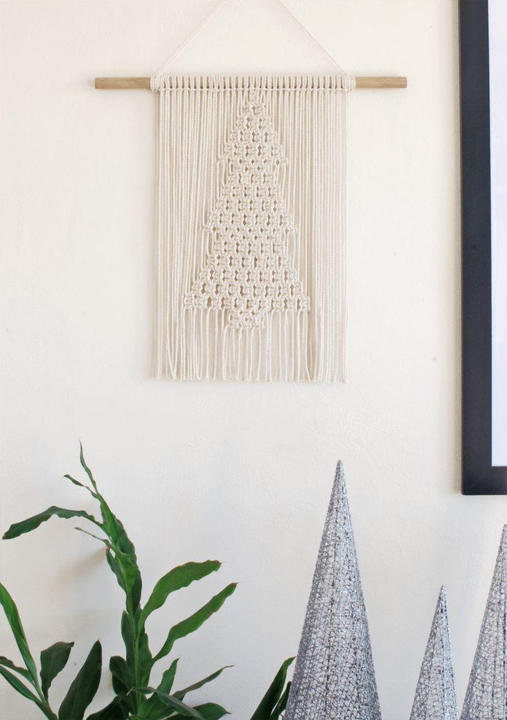Karcsi | One of a kind handmade Christmas Treet Macramé wall hanging by Macramé Mons. One piece revealed each fortnight on a Monday ✖️