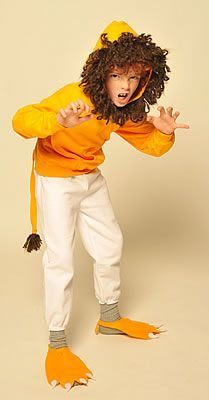 I like the hoodie part! Lion costume free pattern