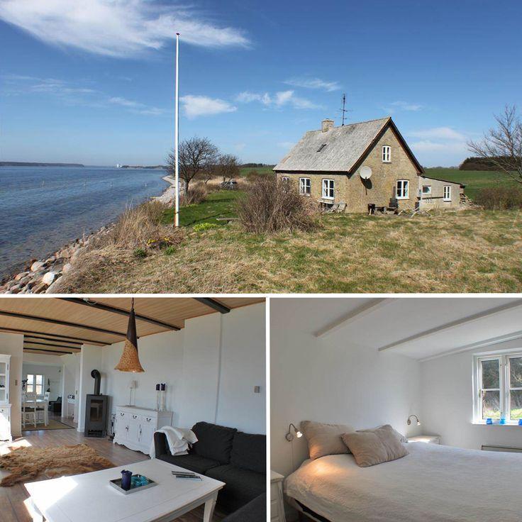 Idyllisch gelegenes Ferienhaus direkt am Meer. #dänemark #fünen #urlaubmithund