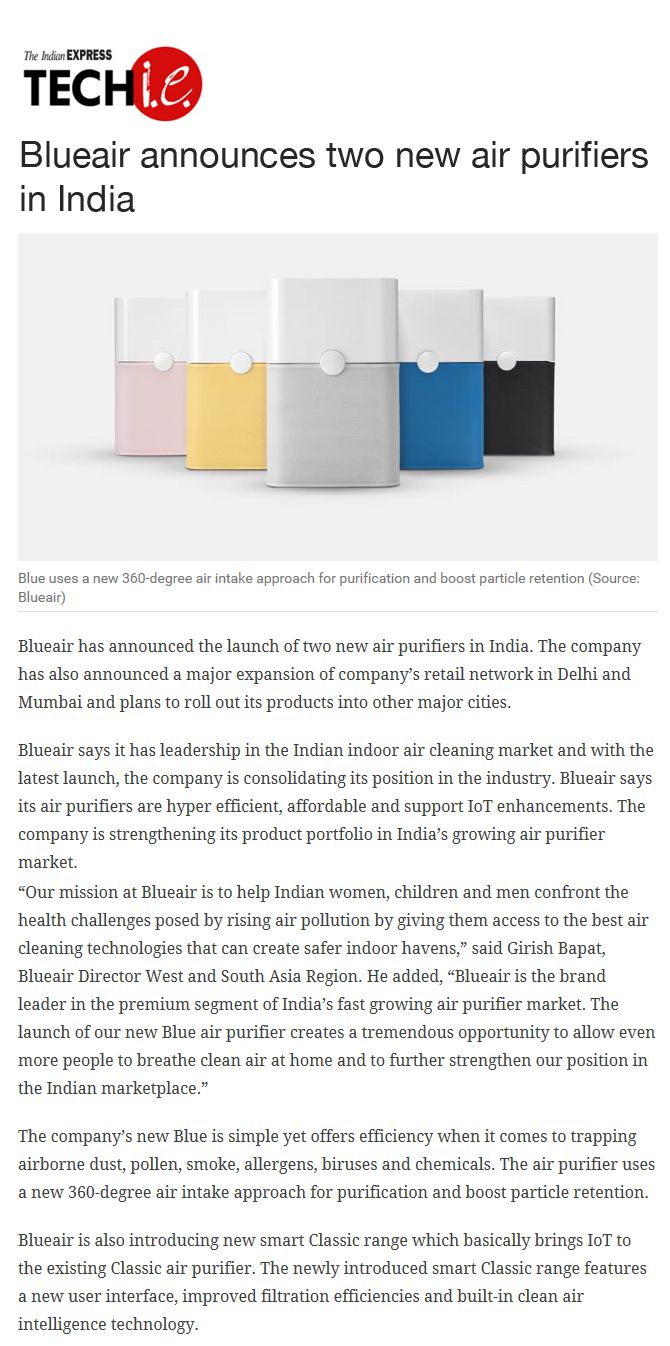 13 best myblueair images on pinterest air purifier air blueair launched a major drive to bring its wellness enhancing purifiers to even more indians by announcing two new air purifiers in india blueair new fandeluxe Image collections