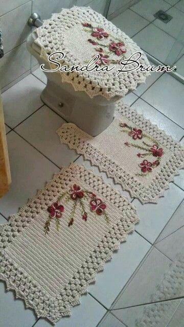 juego de baño | Crochet & knitting | Pinterest | Bathroom Sets, Crochet and Toilets