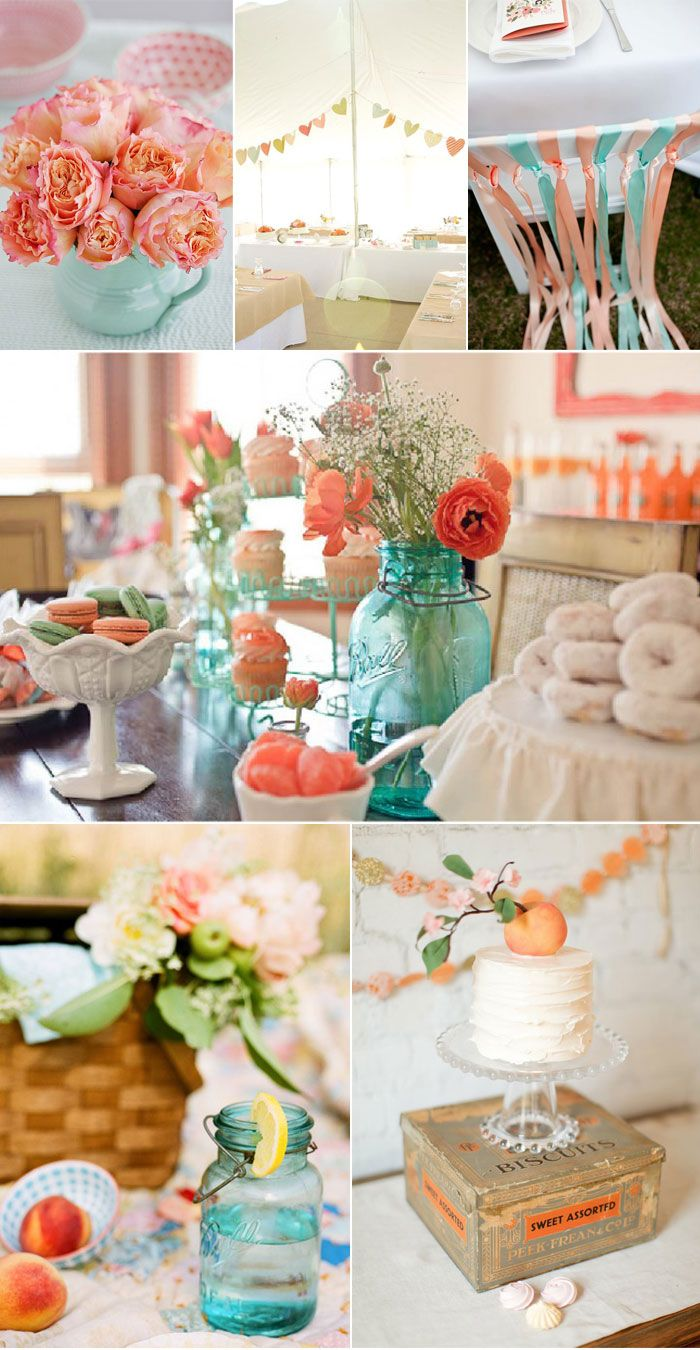 Peaches Aqua And Colors On Pinterest