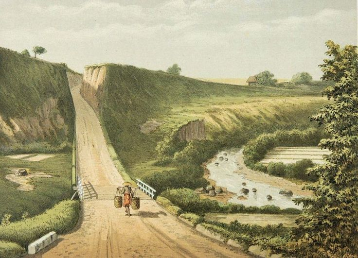 Josias Cornelis Rappard - Jalan dan sungai di pegunungan
