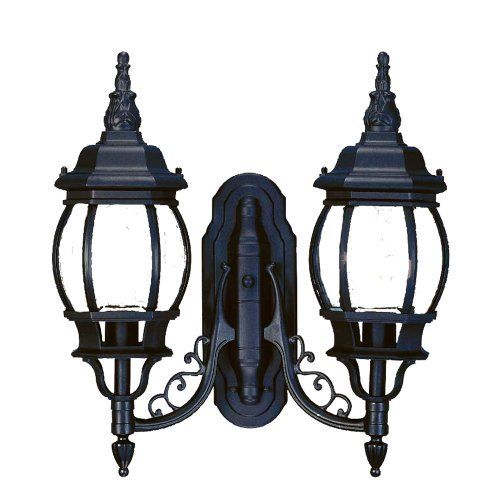 Acclaim Lighting 5158BK 2 Light Chateau Outdoor Sconce by Acclaim. $133.40. Finish:Matte Black, Glass:Clear Beveled, Light Bulb:(2)100w A19 Med C Incand Chateau outdoor sconce.