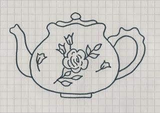 Art & Craft Times: Čajníky - vzory na vyšívanie