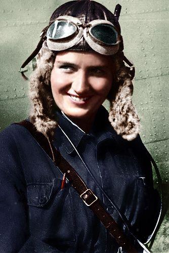 Marina RASKOVA, the Soviet aviatress-navigator, the captain; one of the first women, awarded Hero of Soviet Union (1912-1943)