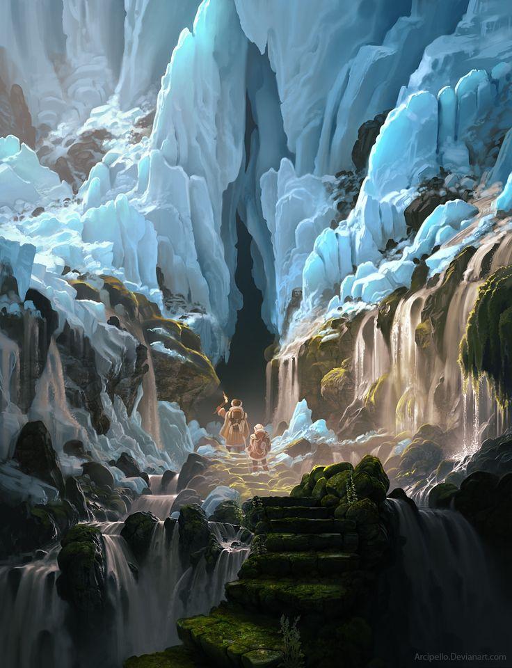 The Frozen pass, Daniel Conway on ArtStation at https://www.artstation.com/artwork/eQ3dJ
