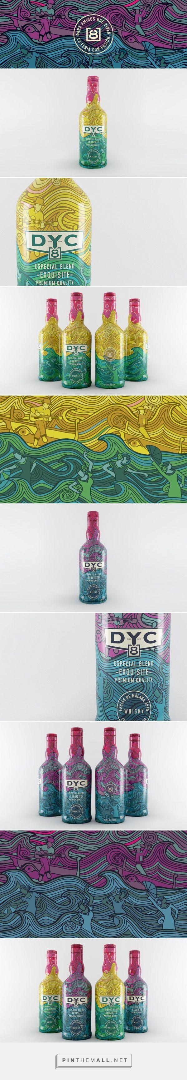 DYC 8 Ferias de Málaga via Narita Estudio curated by Packaging Diva PD. Beautiful packaging design concept for Destilerías y Crianzas del Whisky S.A.