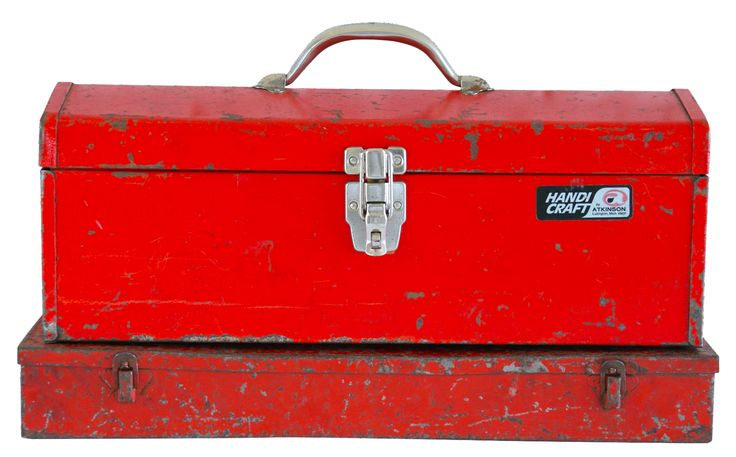 Industrial Red Metal Boxes on Chairish.com