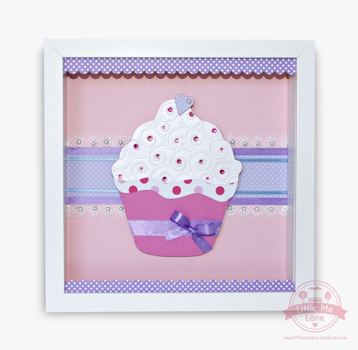 This original handmade cupcake artwork features beautiful papers in pink, purple and white which are layered together with beautiful ribbons and lace.  Featuring lots of crystal embellishment and tiny pearls this design is cuter than a cupcake!  To purchase please visit our facebook page https://aradium.com/2wbck