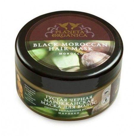 Czarna marokańska maska do włosów została stworzona na bazie cennego ekologicznego oleju arganowego, który jest jednym z najdroższych i najrzadszych olei na świecie.