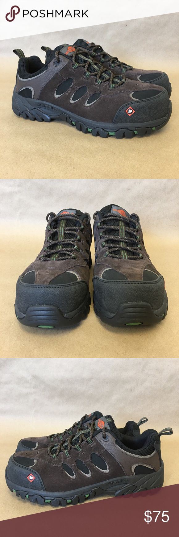 Merrell Men's Ridgepass Bolt Wide Safety Shoes CT New with