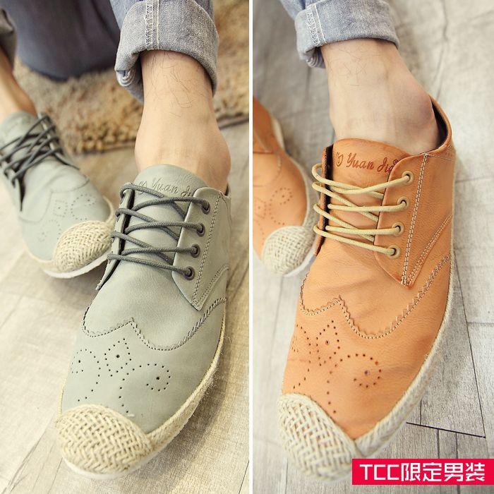 TCC 2014 Корейская версия новой весны и лета мужские Британский стиль резные соломы обувь, полуботинки мужские ботинки - Taobao