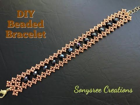 Simple and Easy Beaded Bracelet  - YouTube