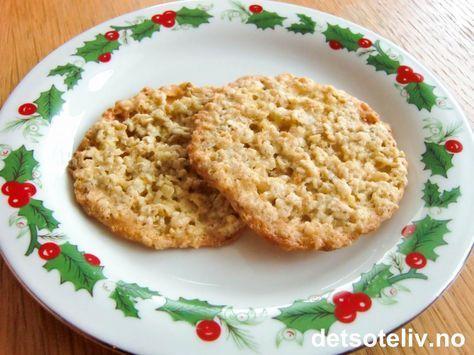 """""""Havreflarn"""" er meget lettlagde og populære småkaker! Oppskriften gir 30 stk."""
