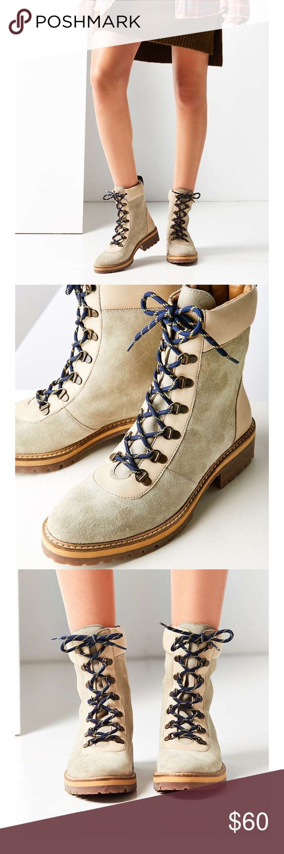 FLASHSALE🌈urban outfitters boots! NEW Sz 7 Brand new urban outfitters boots! These could be worn for hiking or for fashion! Nice clean color with leather details and vintage style laces! Super cute and have never been worn! Urban Outfitters Shoes Lace Up Boots