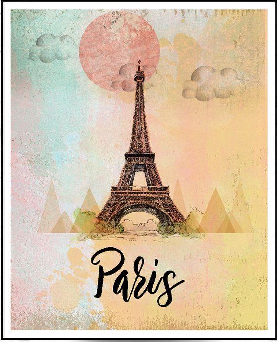 Modern Paris Wall Art Pattern - Wall Art Design - leftofcentrist.com