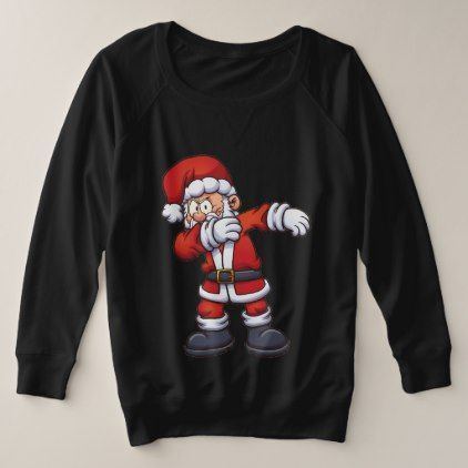 Santa Dabbing Plus Size Sweatshirt Black - Xmas ChristmasEve Christmas Eve Christmas merry xmas family kids gifts holidays Santa