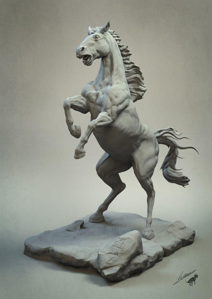 ArtStation - Frightened horse v2, gael kerchenbaum