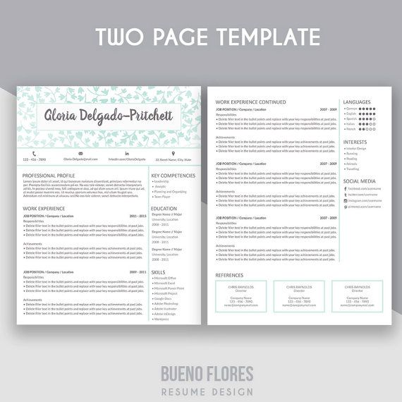 58 best Bueno Flores Resume Designs images on Pinterest Resume - references page for resume