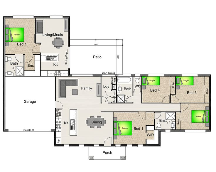 House Plan With Granny Flat Attached   Google Search ~ Great Pin! For Oahu  Architectural