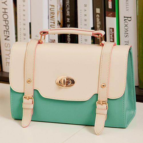Adorable Vintage Design Green Messenger Bag
