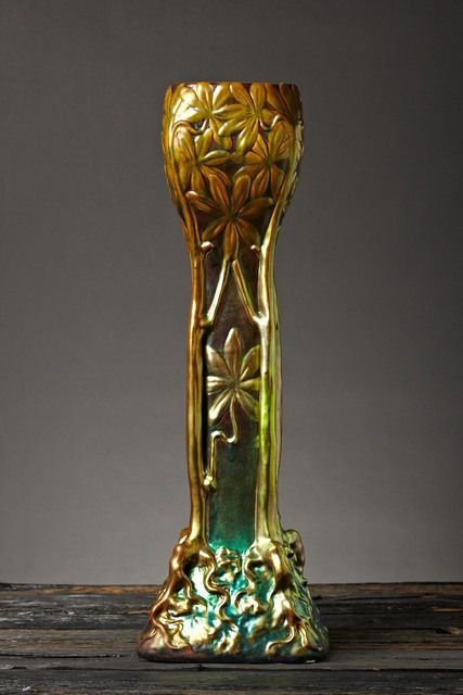 ernst wahliss vase | Tree of Life, circa. 1900, by Zsolnay