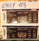#Ticket  BIGLIETTI GREEN DAY  BOLOGNA Unipol Arena-Vendo N. 2 Grad. Num.  posti vicini #italia