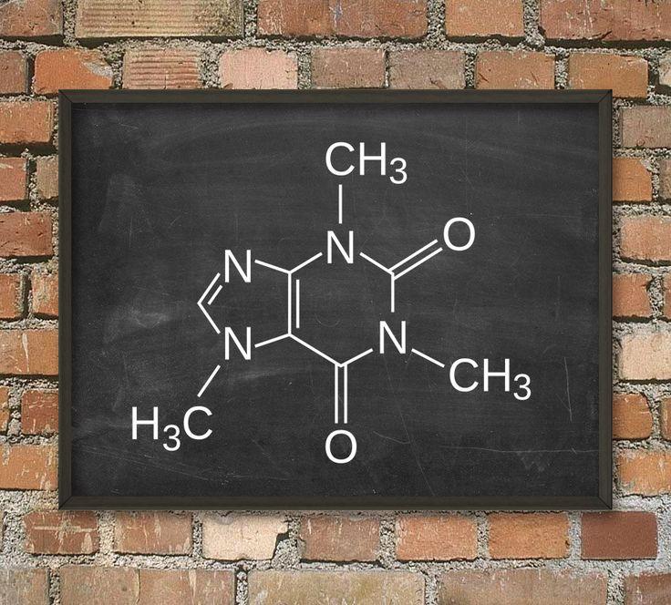 Caffeine Molecule Poster - Caffeine Illustration Art Print - Caffeine Chemical Structure - Caffeine Wall Art - Kitchen Wall Art - Coffee Art by QuantumPrints on Etsy https://www.etsy.com/listing/188361121/caffeine-molecule-poster-caffeine