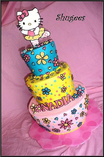 Colorful Hello Kitty Cake