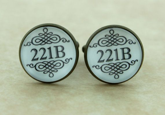 SHERLOCK BBC 221B Mens French Cufflinks by ConsultingFanGeeks, $17.90
