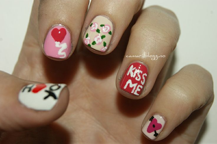 Valentine nart by me :) Cassandra Berg #nailart #naildesign #nails #nailpolish #negler #negledesign #neglelakk