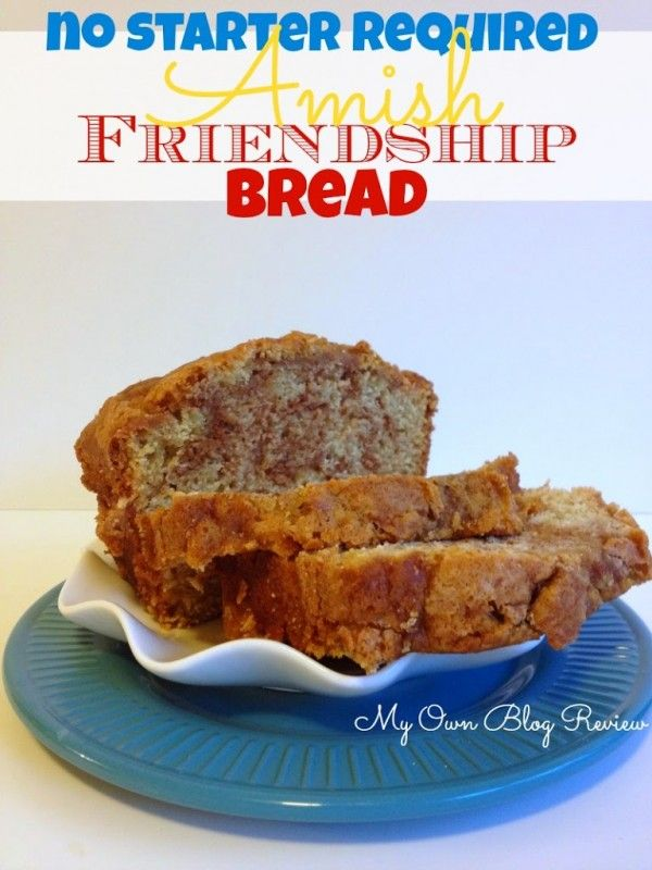 Amish Friendship Bread Without A Starter, can't tell you how long I've been looking for this recipe! www.Embellishmints.com