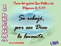 LECTURAS DEL DIA: Lecturas y Liturgia del 4 de Noviembre de 2014  Filipenses (2,5-11) Salmo l 21,26b-27.28-30a.31-32 Lucas (14,15-24)
