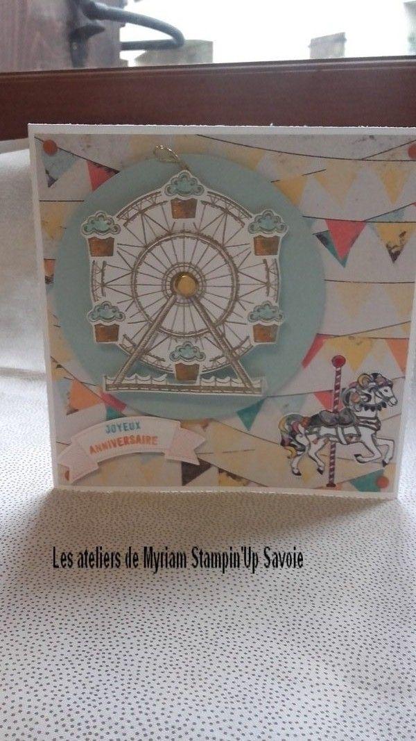 démonstratrice stampin' Up en Savoie Albertville vente à domicile de matériel de scrapbooking carterie tuto déco