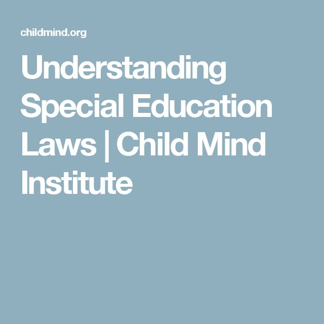 Understanding Special Education Laws | Child Mind Institute