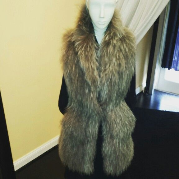Fur Vest great to be worn for Day or Evening
