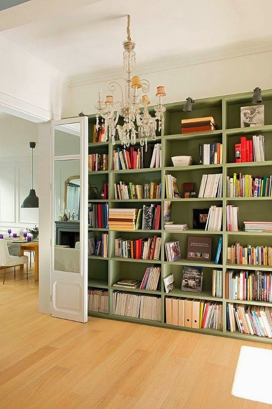 #bookcase #chandeliers
