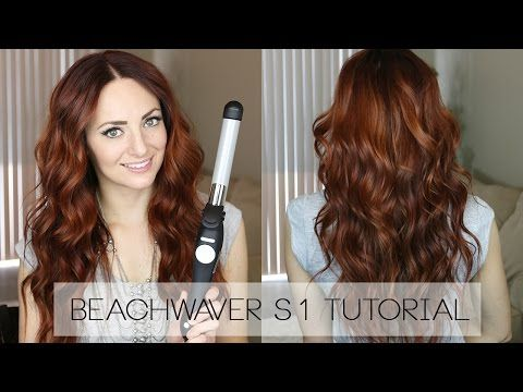 Beachy Waves Tutorial Using the Beachwaver S1! - YouTube #hairtutorial #beachwaves