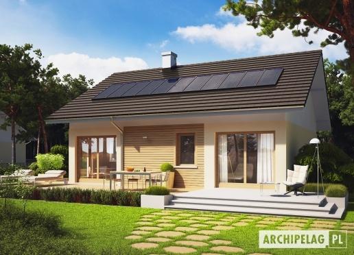 #Projekt Elmo to #dom realizujący postulaty energooszczędnej prostoty – zwarta bryła minimalizuje ryzyko występowania mostków termicznych, a prosty dwuspadowy dach doskonale nadaje się do zamontowania na nim systemu solarnego.